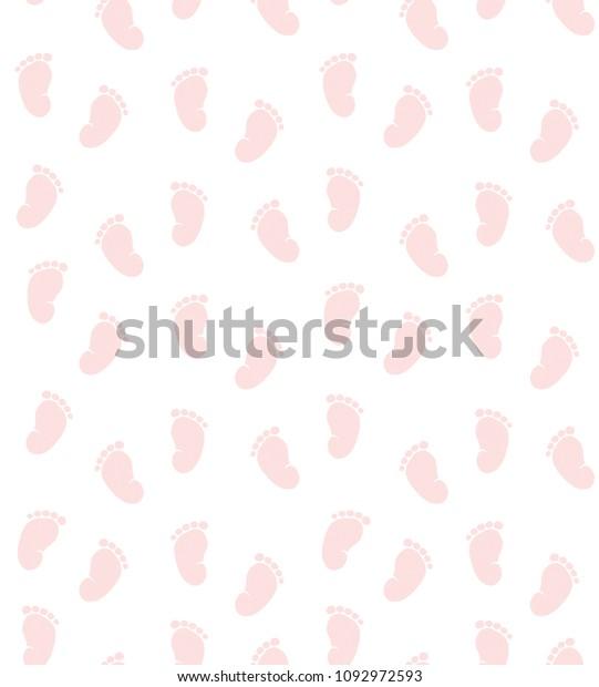 Vector De Stock Libre De Regalías Sobre Cute Pink Little