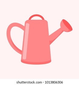 Cute Pink Watering Can Vector Illustration Graphic Design