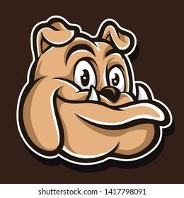cute pitbull vector and logo