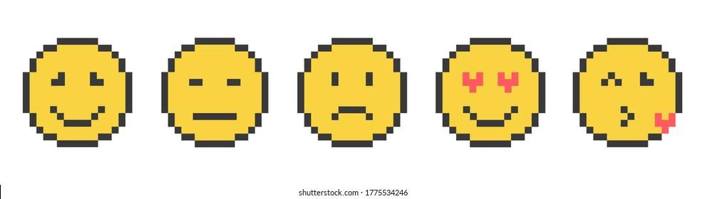 Emoticones Pixel Images Stock Photos Vectors Shutterstock