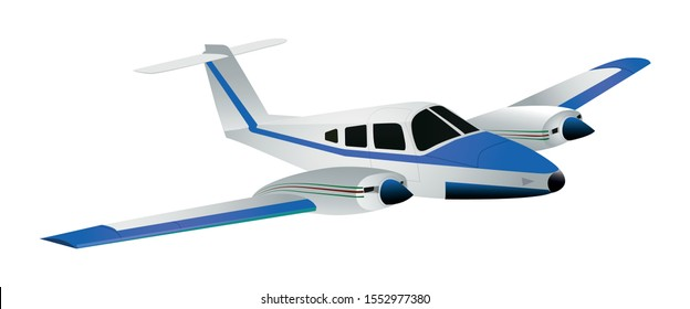 Cute plane isolated on a white background. Flat style. Vector illustration.
