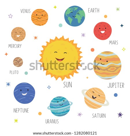 Cute planets with funny
