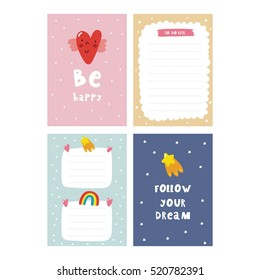 Cute planner, cards and notebook design