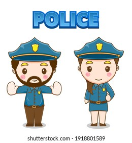 Cute police character vector design illustration