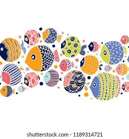Cute postcard with decorative fish.