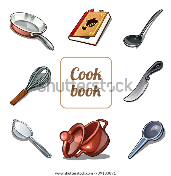 Cute Poster Set Kitchen Utensils Tools Stock Vector (Royalty ...