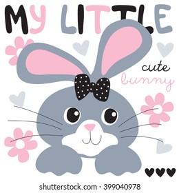 cute and pretty bunny vector illustration