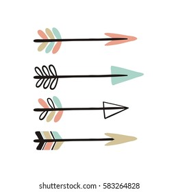 Cute print in Boho style with arrows