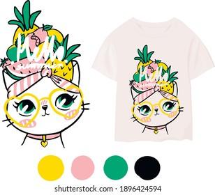 Cute print for children's clothing.Vector illustration.