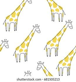 Cute print with giraffe