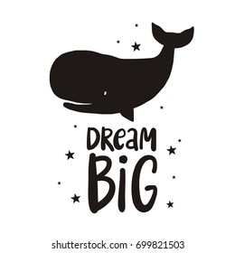 Cute print with lettering. Dream Big