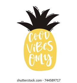 Cute print with lettering. Good vibes only