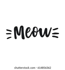 Cute print with lettering. Meow