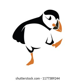 cute puffin character