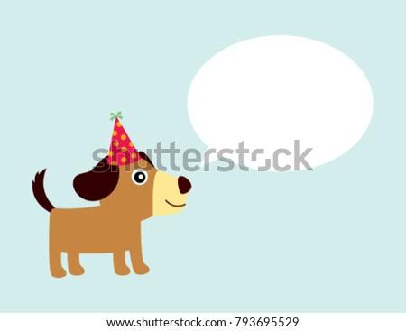 Cute Puppy Dog Birthday Greeting Card Stock Vector Royalty Free