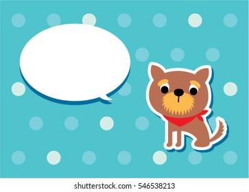 cute puppy dog message