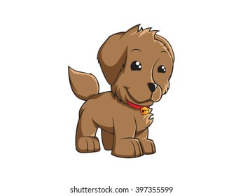 Cute puppy vector art