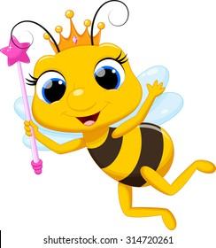 Cute queen bee cartoon