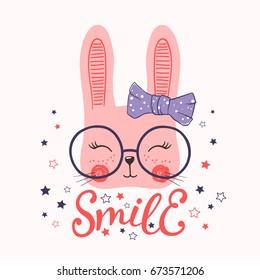 Cute rabbit. Smile