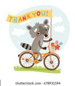 Cute raccoon. Thank you