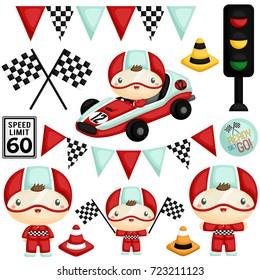 Cute Racer Boy