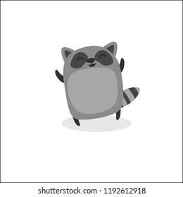 Cute Racoon Cartoon