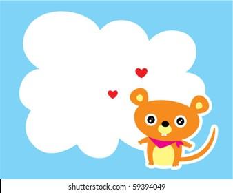 cute rat valentine love