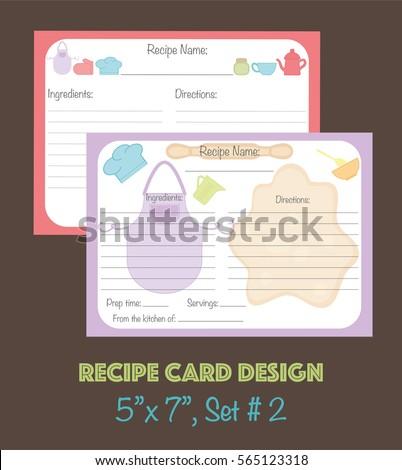 cute recipe cards set vector recipe stock vector royalty free