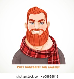 Ginger Hair Man Cartoon