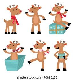 Cute reindeer set