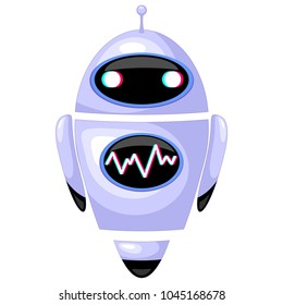 Cute Robot, Chatbot, Android Cartoon representing modern technologies, Artificial Intelligence, Vector Illustration