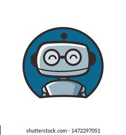 cute robot mascot character designs