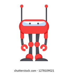 cute robot, vector cartoon character