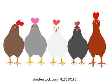 Cute roosters