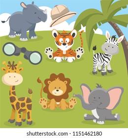 Cute Safari creatures