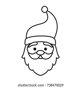 cute santa claus head character