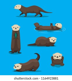 Cute Sea Otter Cartoon Vector