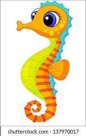 Cute seahorse cartoon