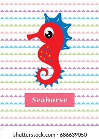 cute seahorse vector