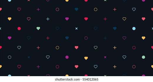 Cute seamless background pattern with hearts.