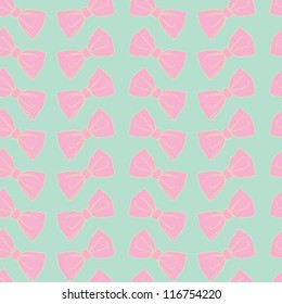 Cute seamless pattern with bows