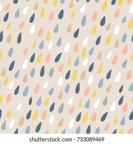 Cute seamless pattern with colorful water drops. Childish texture for fabric, textile.Vector Illustration