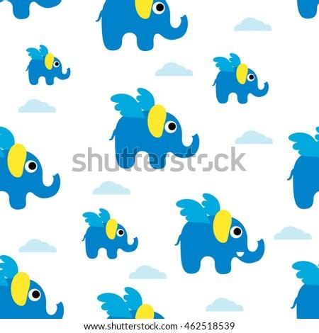 8bb8e77894d4f Cute seamless Pattern of elephants. Background with elephants. Pattern  Background of cute elephants in cartoon icon design style - Vector
