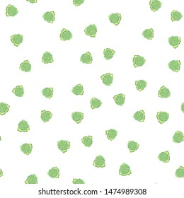Cute Seamless pattern with flowers green. Can be used for printing on packaging, bags, cups, laptop, box, etc. Pattern under the mask. Vector.