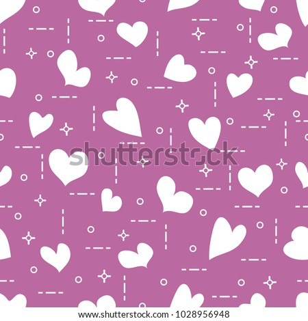 cute seamless pattern hearts template design stock vector royalty