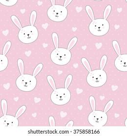 Cute Bunny Seamless Stock Vectors Images Vector Art Shutterstock