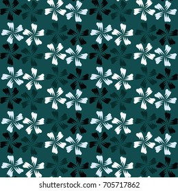 Cute seamless pattern. Vector floral background. Print