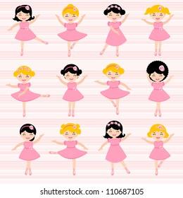 A cute set of beautiful ballerinas