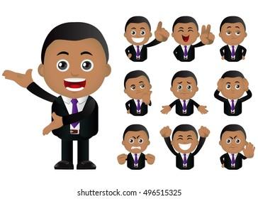 Cute Set - Set of businesspeople