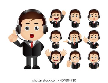 Cute Set - Set of client services and communication